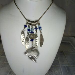 Sterling Silver Bird & Feather necklace